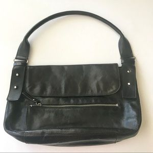 Kenneth Cole NY Couture Bag Purse Black Leather